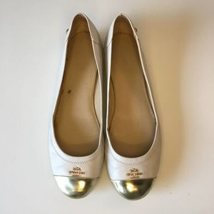 Coach Chelsea Gold Cap Toe Ballet Flat